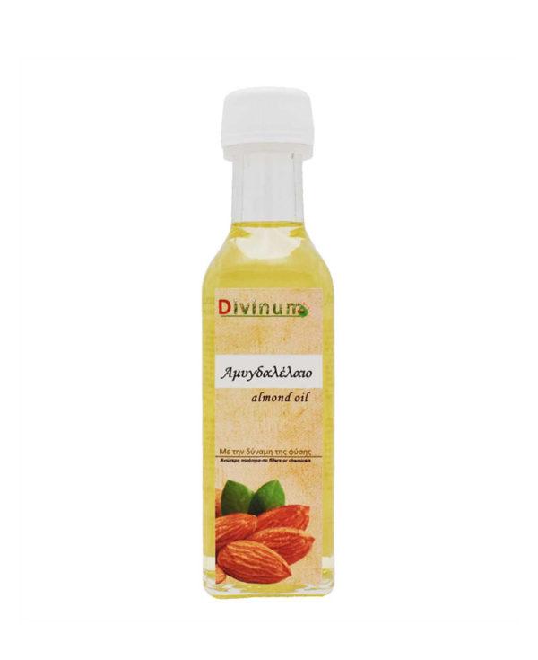 Μπουκαλάκι που περιέχει 100ml αμυγδαλέλαιο της εταιρίας divinum