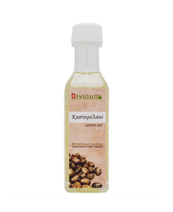 Μπουκαλάκι που περιέχει 100ml καστορέλαιο της εταιρίας divinum