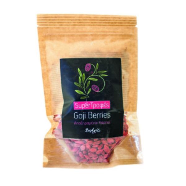 Goji berries αποξηραμένα σε συσκευασία doypack που κλείνει εύκολα