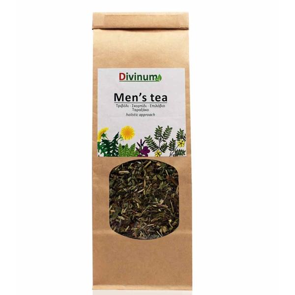 Μείγμα βοτάνων men's tea για άνδρες σε μακρόστενη χάρτινη συσκευασία