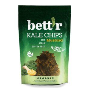 Τσιπς Λαχανίδας (kale chips) με μουστάρδα βιολογικά χ/γλ Bettr 30gr σε πράσινη συσκευασία