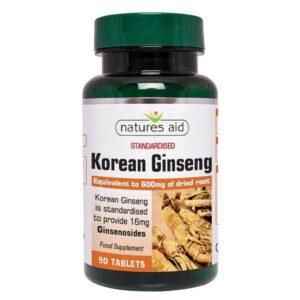 Κορεατικό τζίνσενγκ korean ginseng 40mg 90 δισκία σε πράσινο μπουκαλάκι
