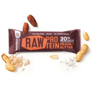 Μπάρα πρωτεΐνης με φυστικοβούτυρο Raw protein Bombus 50gr