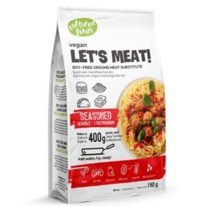 Υποκατάστατο κιμά Let's Meat με καρυκεύματα Cultured Foods 150gr σε λευκή κόκκινη συσκευασία