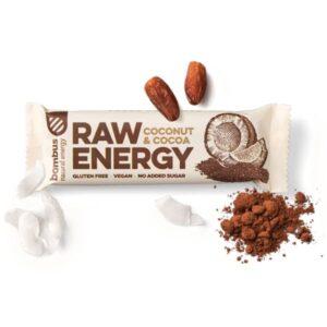 Μπάρα ενέργειας raw energy με καρύδα και κακάο 50gr