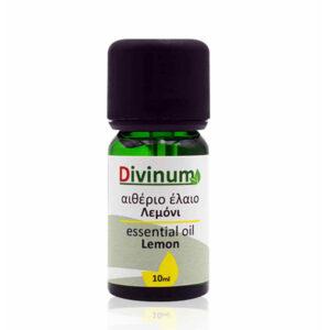 Αιθέριο έλαιο λεμόνι σε πράσινο φιαλίδιο 10ml με δοσομετρητή