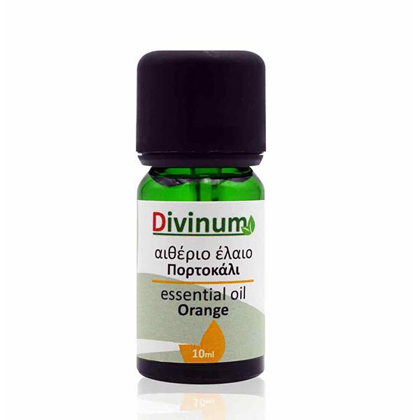 Αιθέριο έλαιο πορτοκάλι σε πράσινο φυαλίδιο 10ml με δοσομετρητη
