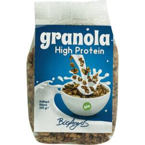Γκρανόλα βιολογική high protein Βιοαγρός 250gr με μπλε ετικέτα