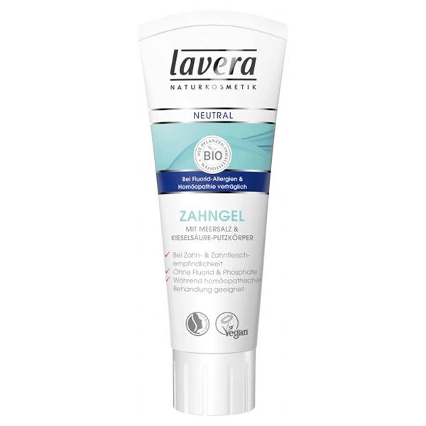 Οδοντόκρεμα (χωρίς φθόριο) με πυριτικό οξύ & θαλασσινό αλάτι Lavera Basis Sensitiv 75ml