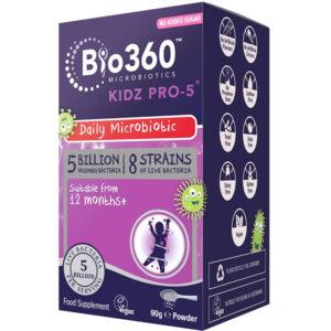 Προβιοτικά για παιδιά Kidz PRO-5 σε σκόνη Natures Aid 90gr σε μωβ κουτί