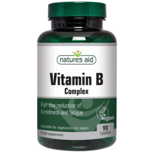 Βιταμίνες του συμπλέγματος B complex Natures Aid 90 δισκία σε πράσινο μπουκαλάκι