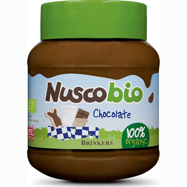επάλειμμα σοκολάτας με φουντούκι nuscobio βιολογικό