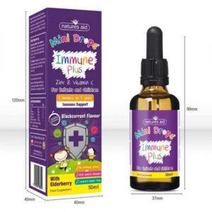 Ενίσχυση ανοσοποιητικού για βρέφη & παιδιά (3μην - 5χρ) immune plus mini drops Natures Aid 50ml