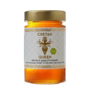 Μέλι θυμαρίσιο με άγρια βότανα & πεύκο βιολογικό Cretan Queen 250gr