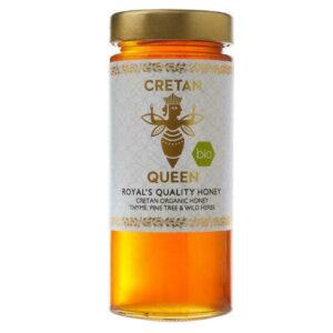 Μέλι θυμαρίσιο με άγρια βότανα & πεύκο βιολογικό Cretan Queen 400gr