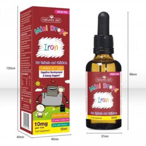 Σίδηρο για βρέφη & παιδιά (3μην - 5χρ) iron mini drops Natures Aid 50ml