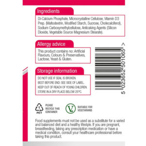 Βιταμίνη D3 4000iu 125μg Ενηλίκων 60 Ταμπλέτες Natures Aid